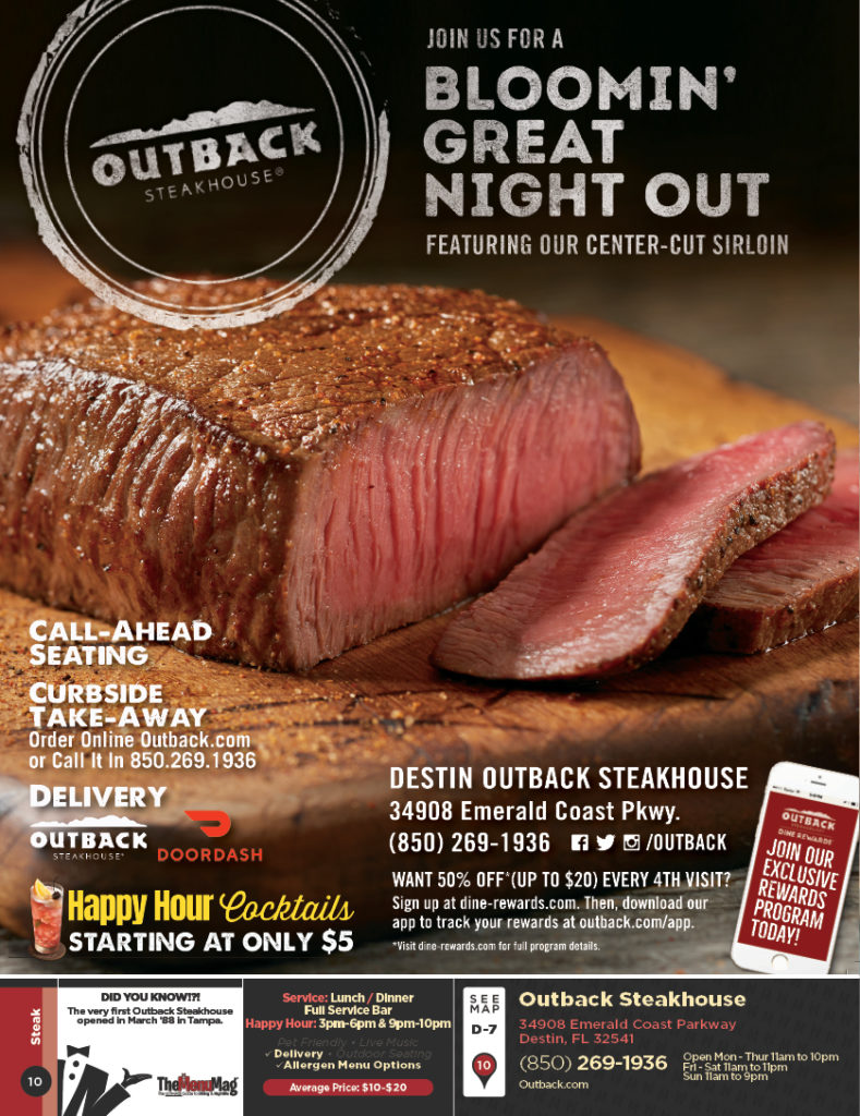 outback steakhouse destin destin the menu mag outback steakhouse destin destin the
