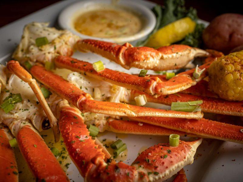 Snow Crab Legs Bayou On The Beach Cafe & Oyster Bar Steamers & Merchantile Panama City Beach Florida The Menu Mag